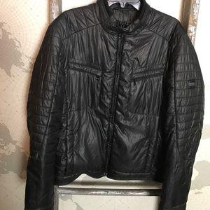 Hugo Boss puffer Bomber military jacket 42 EUC